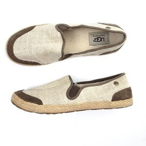 UGG Burlap Flats Slides Casual Loafers Shoes SZ 7